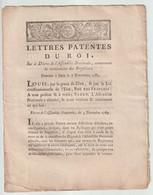 1790, Lettres Patentes Du Roi - Décrets & Lois