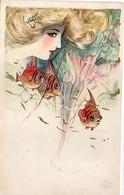 SCHMUCKER ? - Art Nouveau - Femme Et Poisson    (7986 ASO) - 1900-1949
