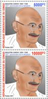 DEMOCRATIC REPUBLIC CONGO 2021 - STRIP 2v From SHEETLET - JOINT ISSUE MAHATMA GANDHI 150 TH BIRTH ANNIVERSARY - RARE MNH - Mahatma Gandhi