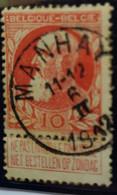 Belgique  Oblitération Manhay Sur COB N°74 - 1905 Barbas Largas