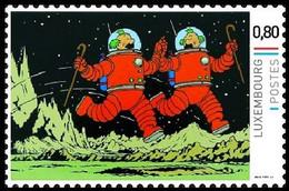 Timbre Privé** - Kuifje / Tintin - Milou / Bobbie - On A Marché Sur La Lune / Mannen Op De Maan / Männer Auf Dem Mond - Bandes Dessinées