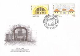 Latvia FDC 2000 Riga Tourism (DD27-29) - Letonia