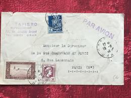 1946 Oran France (ex-colonie Protectorat)Algérie-Lettre Document-☛Paris-Tapiero  Représentant Judaica - Brieven En Documenten