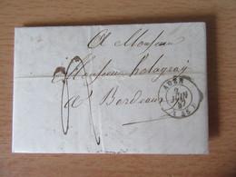 Lettre Circulée Entre Agen Et Bordeaux En 1847 - 1801-1848: Précurseurs XIX