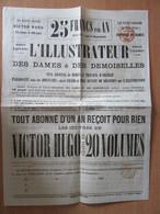 2 Cachets Rouges PP Imprimés Paris 1861 Sur Dépliant Du Journal L'Illustrateur - Periódicos