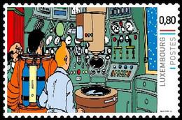 Timbre Privé** - Kuifje/Tintin - Milou/Bobbie - Haddock - Objectif Lune / Raket Naar De Maan / Reiseziel Mond - Bandes Dessinées