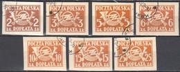 Poland 1946 - Postage Due - Mi.104-13B- 7v - Used - Impuestos