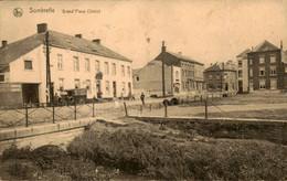 België - Sombreffe - Grand Place Stain - Auto - 1925 - Zonder Classificatie