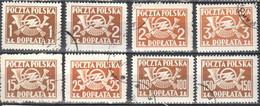 Poland 1946 - Postage Due - Mi.104-13A- 8v - Used - Impuestos