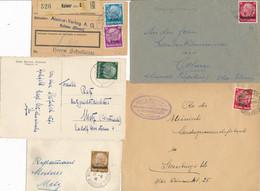 Hindenburg Alsace Lorraine Lot De 12 Lettres CP Entiers - A Etudier - Alsace Lorraine