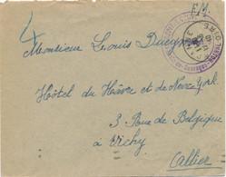 """Cachet"""" HOPITAL COMPLEMENTAIRE St LOUIS De Gonzague ROANNE """" Loire Sur Lettre Franchise Du 12/6/40 - Débacle - Oorlog 1939-45"""
