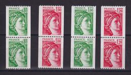 D211 / LOT N° 1980/1981B PAIRE DE ROULETTE AVEC N° ROUGE NEUF** COTE 19.80€ - Collezioni