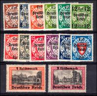 716-729 Danzig-Aufdruck 1939, 14 Werte Komplett, Satz Mit Falzresten * - Ohne Zuordnung