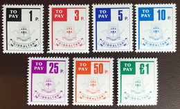 Gibraltar 1984 Postage Due Set MNH - Gibilterra