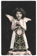 CPA-Carte Postale France- Fantaisie Un Ange Derrière Une Pendule 1911  VM36508 - Groupes D'enfants & Familles