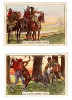 2 Chromos Kaufmannsbilder, Karl May, Kaugummi Bull, Indianer, Indiens, Allemagne, Deutschland - Sonstige