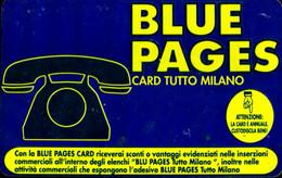 SCHEDA TESSERA SERVIZI BLUE PAGES CARD TUTTO MILANO / EF CORSI DI LINGUE - Unclassified