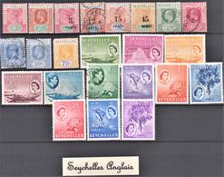 Lot De 23 Timbres Neufs, Oblitérés Et Différents Des Seychelles Anglais - Lots & Kiloware (max. 999 Stück)