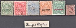 Lot De 6 Timbres Neufs, Oblitérés Et Différents De Antigua Anglais - Lots & Kiloware (max. 999 Stück)