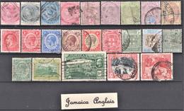 Lot De 23 Timbres Neufs, Oblitérés Et Différents De Jamaica Anglais - Lots & Kiloware (max. 999 Stück)