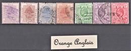 Lot De 7 Timbres Neufs, Oblitérés Et Différents De Orange Anglais - Lots & Kiloware (max. 999 Stück)