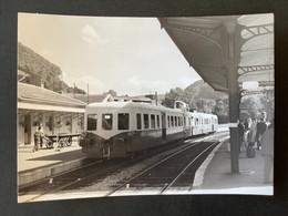 Photographie Originale De J.BAZIN:Petites Lignes De L'Ain Et Ligne CFF De Divonne  Les Bains àNyon : LA CLUSE   En 1960 - Trenes