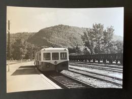 Photographie Originale De J.BAZIN:Petites Lignes De L'Ain Et Ligne CFF De Divonne  Les Bains à Nyon  LA CLUSE   En 1960 - Trenes