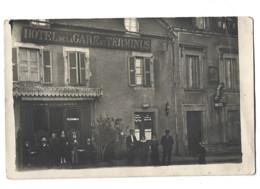 19 -   Carte Photo   - USSEL - Hôtel De La Gare Et Terminus 11 - Ussel