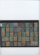 FRANCE LOT DE TIMBRES SAGE TOUS TYPES  ENVOI GRATUIT FR009 - 1876-1878 Sage (Type I)