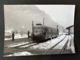 Photographie Originale De J.BAZIN:Petites Lignes De L'Ain Et Ligne CFF De Divonne-les-Bains NANTUA En  1953 - Trenes
