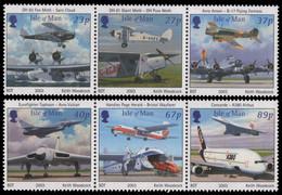 Isle Of Man 2003 - Mi-Nr. 1051-1056 ** - MNH - Flugzeuge / Airplanes - Isola Di Man