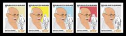 BURUNDI 2021 - IMPERF FULL SET 5v (SINGLES) - JOINT ISSUE MAHATMA GANDHI 150 TH BIRTH ANNIVERSARY - RARE MNH - Mahatma Gandhi