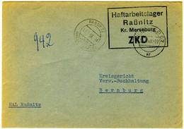 Zentraler Kurierdienst ZKD - Haftarbeitslager Raßnitz Vom 17.7.1963. - Service