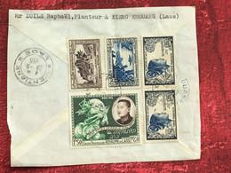 Ventiane Planteur à Xieng Khouang  Asie  Laos-Lettre Document-☛devant De Lettre- Zoile Raphaël Judaica-1956 - Laos