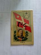 Samoa.Deutsche Samoa.RR.cromos No Postcard.silk.seide.flag.cig.card.el Perú.flag.king.silver Coin.map.better Condition. - Samoa