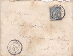 COTE D' OR ,, Courban Cachet  Perlé Sur Type Sage 1896 - 1877-1920: Semi-moderne Periode
