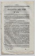 Bulletin Des Lois 870 1841 Poste Convention Additionnelle France-Belgique/Projet Chemin De Fer Paris-Strasbourg/Lagrave - Decreti & Leggi