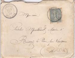 COTE D' OR ,, COURBAN Cachet  Perlé Sur Type Semeuse  1903 - 1877-1920: Semi-moderne Periode