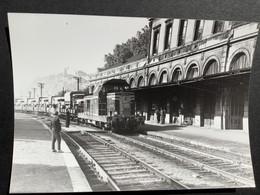Photographie Originale De J.BAZIN:Ligne De BESANÇON Au LOCLE : Gare De BESANÇON - MOULLIERE En 1960 - Trenes