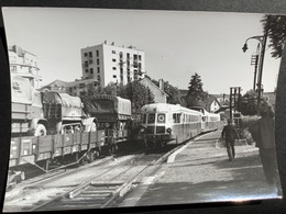 Photographie Originale De J.BAZIN:Ligne De BESANÇON Au LOCLE :Dépôt  De BESANÇON - MOULLIERE En 1960 - Trenes