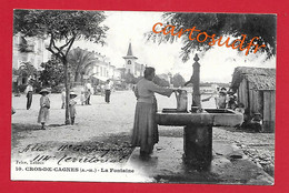 06 CROS DE CAGNES - LA FONTAINE - 11è GROUPE TERRITORIAL - CACHETS  AU VERSO - TBE - Non Classificati