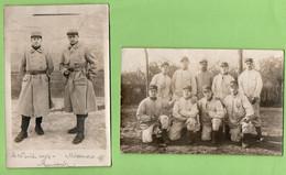 Sarthe Mamers Guerre Avril 1917 Lot De 2 Cartes Photo Militaire 115eme Regiment D' Infanterie ( Format 9cm X 14cm ) - War 1914-18
