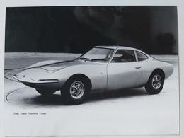 41030 Foto D'epoca 955 - Pubblicitaria Anni 60 - Opel Gran Tourisme Coupé - Automobili