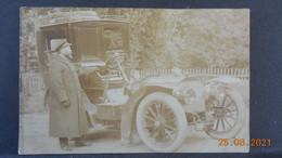 CPA - Carte-Photo - Voiture Ancienne Et Chauffeur De Maître (1904) - Voitures De Tourisme