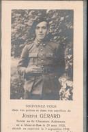 ABL, Joseph Gérard , Né à Mont Le Bas , Le 29 Août 1920 En Captivité Nle 3 Septembre 1942 Stalag IA , 6e Ch Ardennais - Overlijden