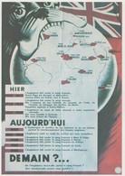 French BullDog Eats Atlas World Map Comic WW2 Poster Postcard - Werbepostkarten