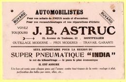 Buvard JB. Astruc Pour Vos Achats De Pneus. Montpellier. - Automotive