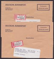 2x R- Postsache, Postgiroamt Nürnberg Und Leipzig Als R- Zettel - Covers & Documents