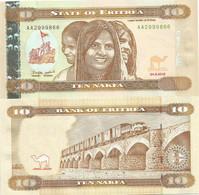 Eritrea 10 Nakfa 2012. UNC - Eritrea