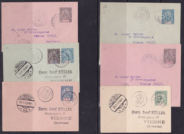 Mayotte, 1902/9, Collection Of 13 Used Postcards/stationaries, All Mailed To Vienna, Each With Arrival Cancellation - Lettres & Documents